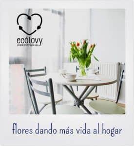 Decoración de interiores con plantas y flores