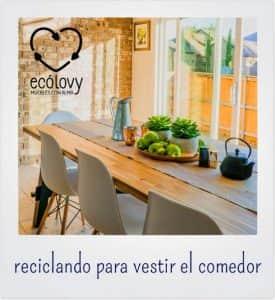 muebles de comedor para decorar una casa con reciclaje