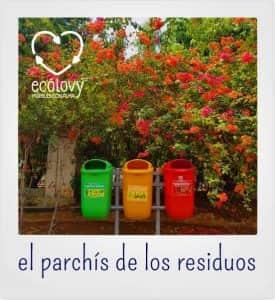 contenedores de colores para la retirada y reciclaje de residuos