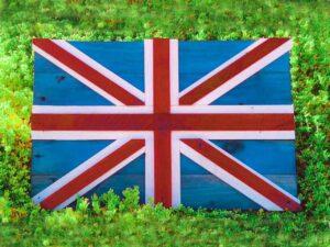 cuadro vintage bandera del Reino Unido de ecólovy muebles auxiliares