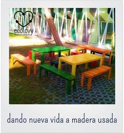 muebles de madera reciclada son ejemplo de economía circular