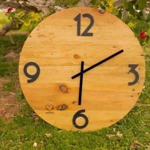 reloj de pared reciclado ecólovy