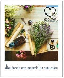 usar materiales naturales para diseño de interiores sostenible