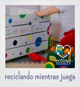 caja de madera para decorar cuartos infantiles con materiales reciclados