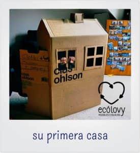 casa de cartón para decorar cuartos infantiles con materiales reciclados