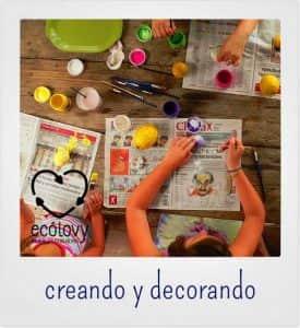 manualidades con niños para decorar cuartos infantiles con materiales reciclados