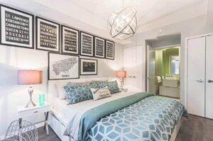 La decoración de habitación de matrimonio para decorar un hogar acogedor